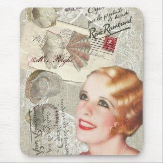 vintage paris shabby chic retro bridal shower mousepad