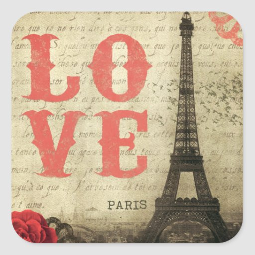 Vintage Paris Sticker