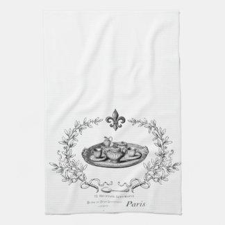 Vintage Paris Teaset  tea towel