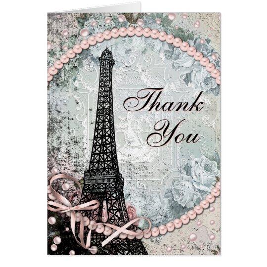 Vintage Paris Thank You Cards