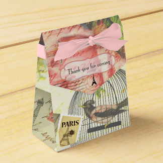 Vintage Paris Themed Wedding Party Personalized Favour Box