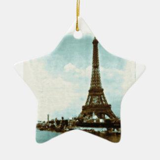 Vintage Paris Water Color Ceramic Star Decoration