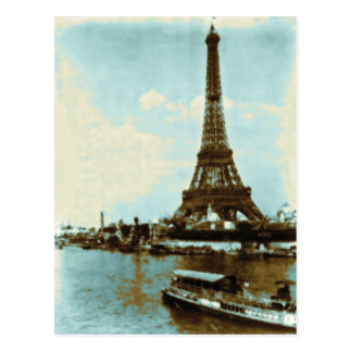 Vintage Paris Water Color Postcard