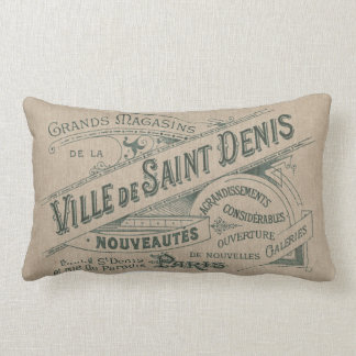 Vintage Parisian Advertising Villa Saint Lumbar Cushion