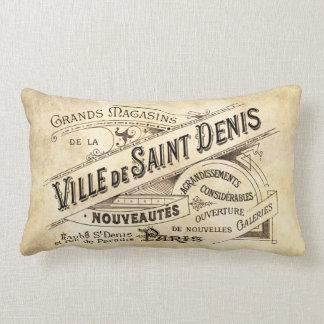 Vintage Parisian Advertising Villa Saint Lumbar Pillow