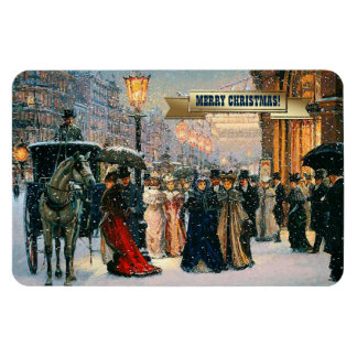 Vintage Parisian Style Christmas Gift Magnets