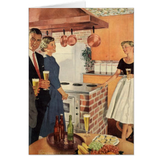Vintage Party in the Kitchen, Beer and Appetizers Card