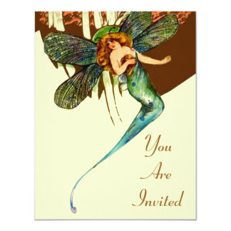 VINTAGE PARTY INVITATIONS DRAGONFLY WINGS ~ PIXIE