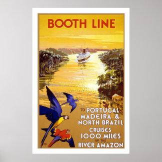 Vintage Passenger Ship Travel Poster
