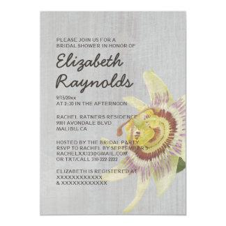 Vintage Passion Flower Bridal Shower Invitations