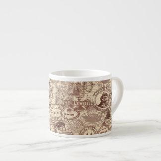 Vintage Passport Stamps Espresso Mug