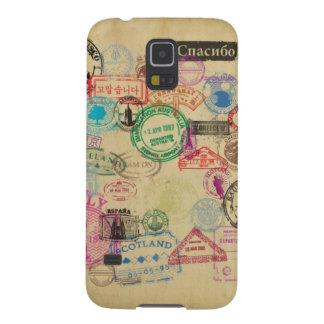 Vintage Passport Stamps Galaxy S5 Cases