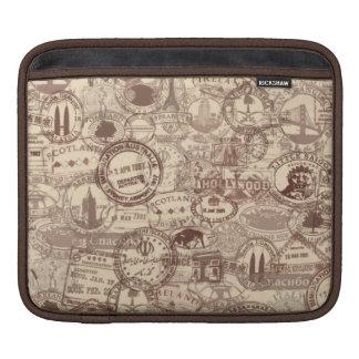 Vintage Passport Stamps iPad Sleeve