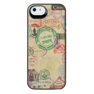 Vintage Passport Stamps iPhone Battery Case