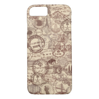Vintage Passport Stamps iPhone Case