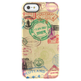 Vintage Passport Stamps iPhone Permafrost Case