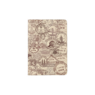 Vintage Passport Stamps Passport Holder