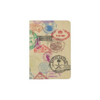 Vintage Passport Stamps Passport Holder