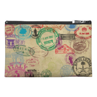 Vintage Passport Stamps Travel Accessories Bags
