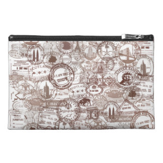 Vintage Passport Stamps Travel Accessory Bag