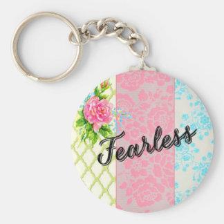 "Vintage pastel ""fearless"" keychain"