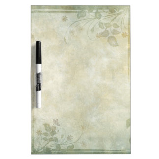 Vintage Pastel Floral Wedding Dry Erase Whiteboards