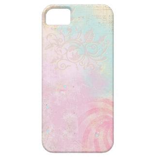 Vintage Pastel Pink & Teal iPhone Cover