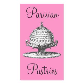 Vintage Pastries, Pink and Black Elegant Souffles Pack Of Standard Business Cards