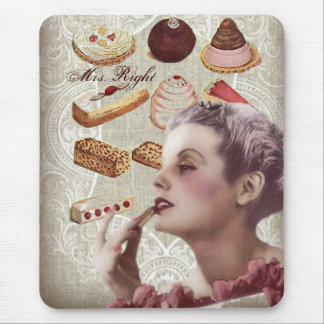 vintage pastry bridal shower tea party mouse pad
