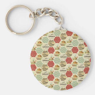 Vintage patchwork country rustic girly chic trendy keychains