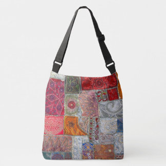 Vintage Patchwork Design. Crossbody Bag