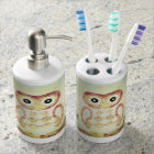 Vintage Patchwork Owls Bath Set