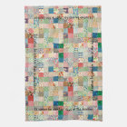 Vintage Patchwork Print Kitchen Towel