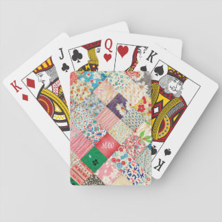 Vintage Patchwork Print Playing Cards