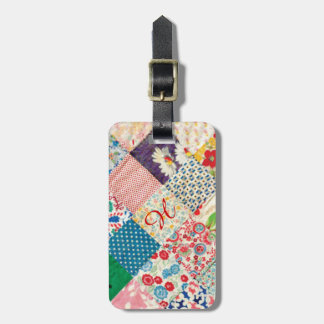 Vintage Patchwork Quilt Luggage Tag