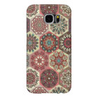 Vintage patchwork with floral mandala elements