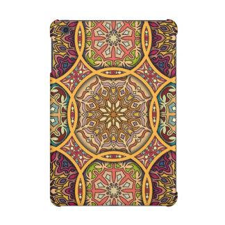 Vintage patchwork with floral mandala elements