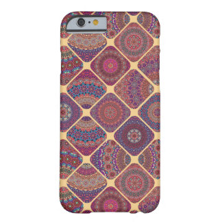 Vintage patchwork with floral mandala elements barely there iPhone 6 case