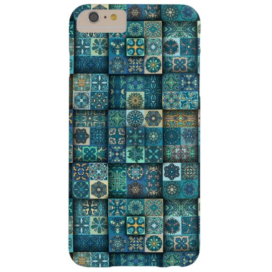 Vintage patchwork with floral mandala elements barely there iPhone 6 plus case