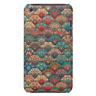Vintage patchwork with floral mandala elements barely there iPod covers
