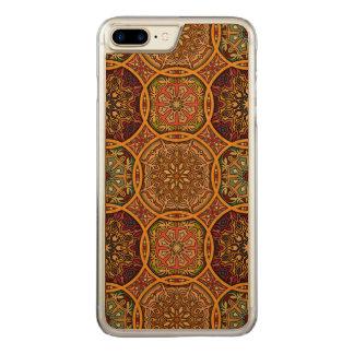 Vintage patchwork with floral mandala elements carved iPhone 8 plus/7 plus case