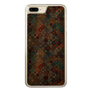 Vintage patchwork with floral mandala elements carved iPhone 8 plus/7 plus case