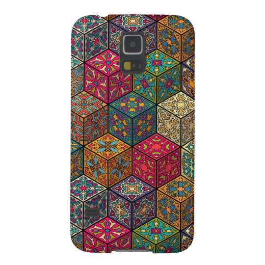 Vintage patchwork with floral mandala elements case for galaxy s5