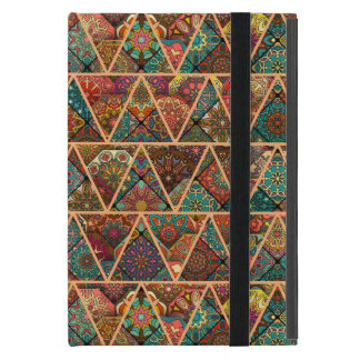 Vintage patchwork with floral mandala elements case for iPad mini