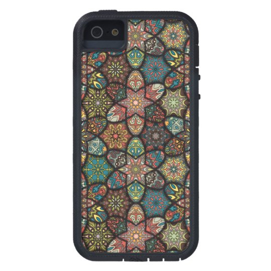 Vintage patchwork with floral mandala elements case for iPhone 5