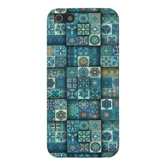 Vintage patchwork with floral mandala elements case for iPhone 5/5S