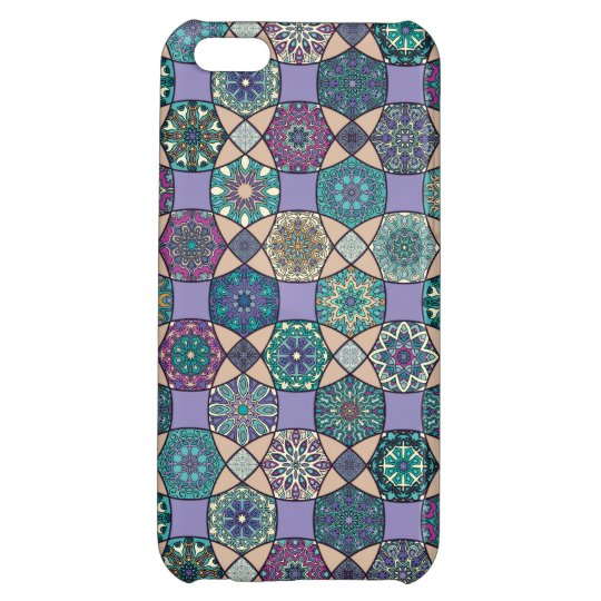 Vintage patchwork with floral mandala elements case for iPhone 5C