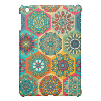 Vintage patchwork with floral mandala elements case for the iPad mini
