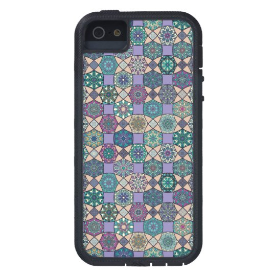 Vintage patchwork with floral mandala elements case for the iPhone 5