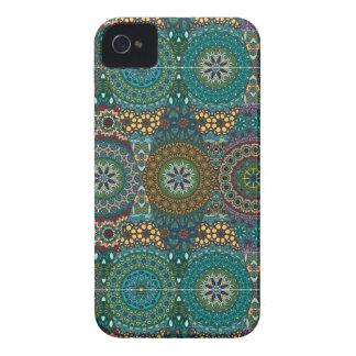 Vintage patchwork with floral mandala elements Case-Mate iPhone 4 case